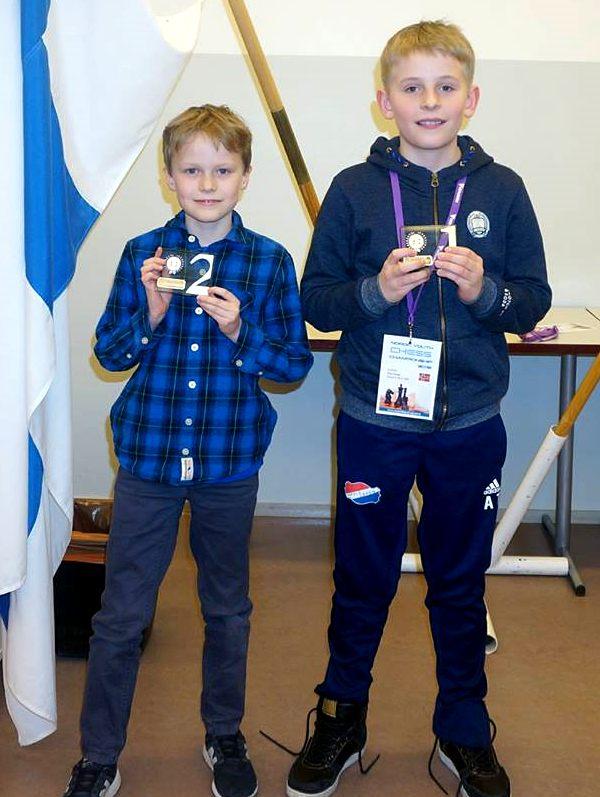 Norge dominerte yngste klasse<BR>med Aksel Bu Kvaløy og Axel Tunsjø.