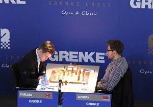 Det ble bare remis for Carlsen mot Aronian