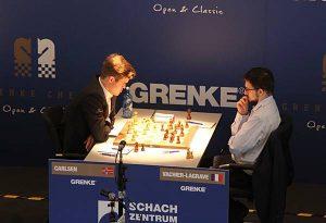 Carlsen med remis mot Vachier-Lagrave