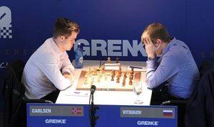 Carlsen fikk bare remis mot Vitiugov