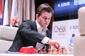 Carlsen på vei mot førsteplas i Shamkir Chess