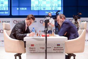 Remis mellom Carlsen og Mamedyarov