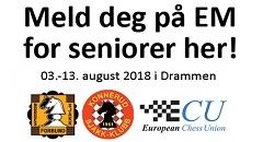 Meld deg på til EM for seniorer i Drammen!