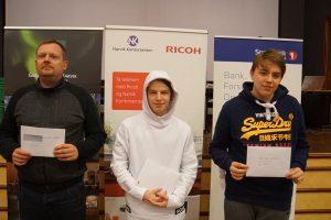 De tre beste i nordnorsk mesterskap i hurtigsjakk