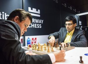 Carlsen - Anand var et av mange remispartier i Norway Chess 2018
