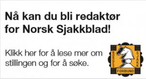 Bli redaktør for Norsk Sjakkblad!