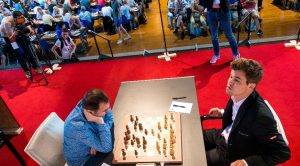 Det ble remis mellom Carlsen og Mamedyarov
