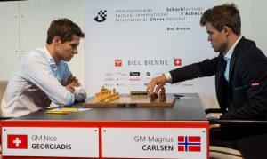 Carlsen måtte nøye seg med remis mot Georgiadis