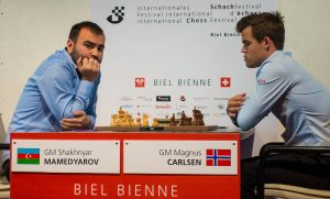 Mamedyarov slo Carlsen og tok førsteplass i Biel