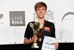 Danske Jonas Buhl Bjerre tok bronse i Open U14