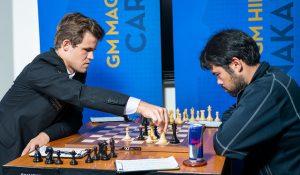 Carlsen nedkjempet Nakamura i et langt sluttspill