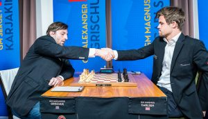 Carlsen var i trøbbel mot Grischuk i 6. runde