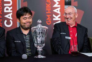 Nakamura med sponsor Rex Sinquefield