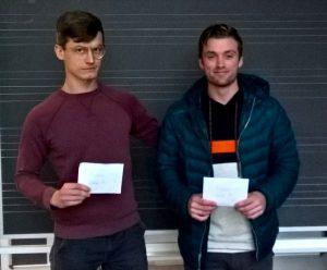 Gruppevinnere i Bronstein Cup: Simon og Nilsen