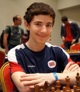 Noam Aviv Vitenberg er beste norske spiller etter 6 runder