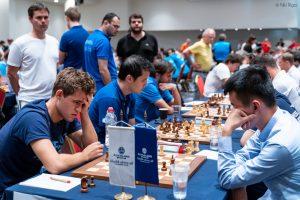 Carlsen var i trøbbel mot Liren Ding i 6. runde