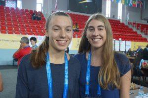 Monika Machlik og Hanna Kyrkjebø vant da Norge slo Skottland
