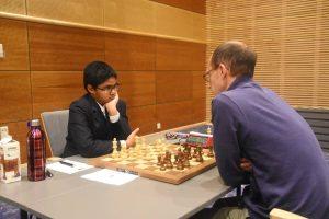 11-årige Jagadeesh holdt Espen Lie til remis i tredje runde i Stavanger