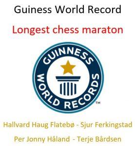 Longest Chess Marathon - Haugesund 2018