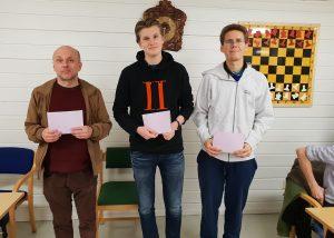 De tre beste i A-gruppen på Konnerud