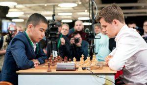 Carlsen tapte mot 16-årige Shamsiddin i andre runde