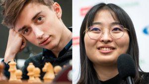 Hurtigsjakkverdensmestrene Dubov og Ju Wenjun