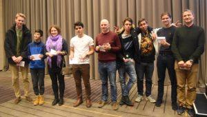 De premierte i A-gruppen i Det Åpne NM i hurtigsjakk 2019