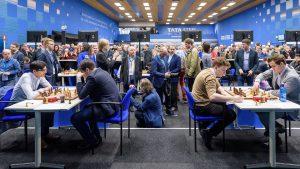 Toppbordene Giri-Radjabov og Duda-Carlsen