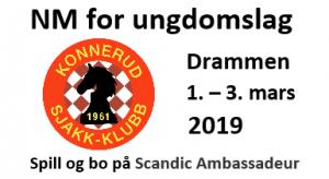 NM i sjakk for ungdomslag 2019