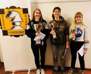 De tre beste i NM for kvinner 2019