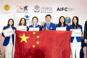 Kina vant kvinneklassen i VM for landslag 2019