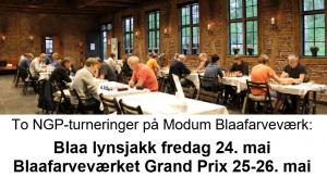 Sjakkturneringer på Blaafarveværket 24-26.mai