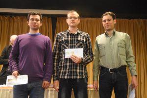 De tre beste i GM-A på Fagernes: Alekseev, Demchenko og Postny