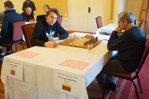 Gunnar Lund spilte remis mot Rozentalis i tredje runde