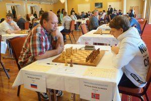 Turov og Vestby-Ellingsen spilte remis i andre runde