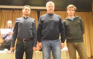 De tre beste i hurtigsjakken på Fagernes: Postny, Vorobiov og Notkevich