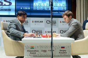 Karjakin tok en viktig seier mot Anand