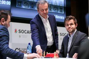 FIDE-president Dvorkovich starter partiet mellom Mamedyarov og Carlsen
