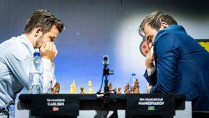 Carlsen- Mamedyarov var fjerde rundes høydepunkt