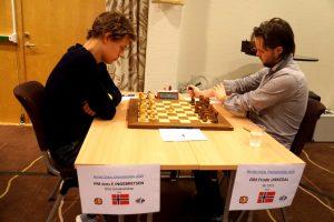 Urkedal slo Ingebretsen og leder Nordisk mesterskap to runder før slutt