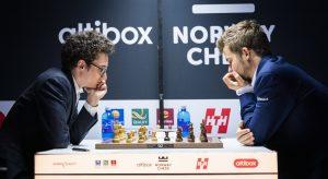 Carlsen vant Altibox Norway Chess 2019 på tross av Armageddon-tap mot Caruana