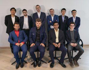 De 10 deltakerne i Altibox Norway Chess 2019