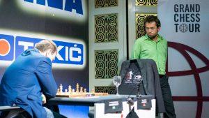 Partiet melom Mamedyarov og Aronian var rundens høydepunkt