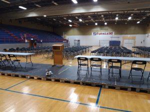 Framhallen i Larvik er klargjort til kongress