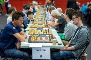 Toppbordene i Mesterklassen med Lars Even Andersen - Anders Hobber øverst