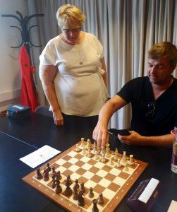 Kulturminister Trine Skei Gradne sammen med Lars Erik Eriksen