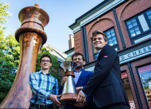 Caruana, Aronian og Carlsen delte førsteplassen i Sinquefield Cup 2018
