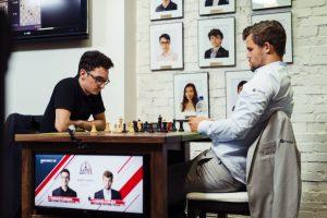 Caruana slo Carlsen på andre dag i Saint Louis