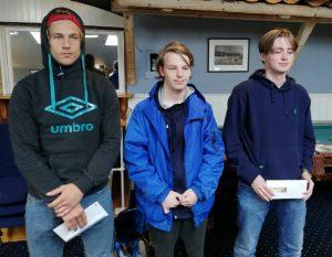 De tre beste i A-gruppen i Kragerø