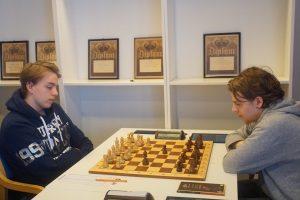 De to beste i Tromsøsjakken: Gunnar Lund og Mads Vestby-Ellingsen